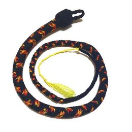 Katana Works 3 foot Paracord Whip, Black/Fire
