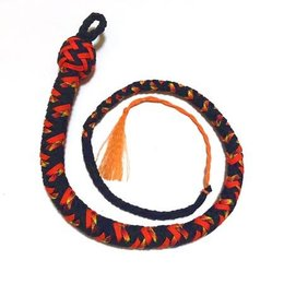 Katana Works 2 foot Paracord Whip, Black/Fire