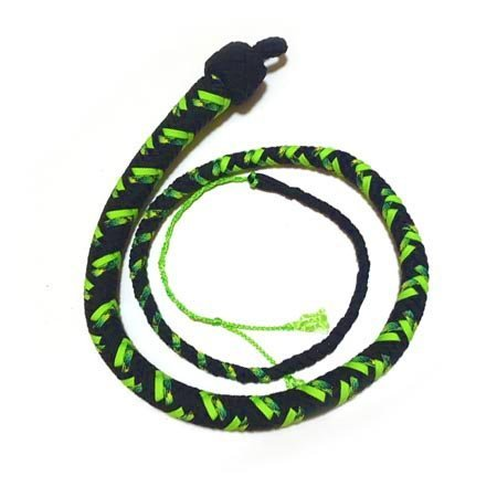 Katana Works 3 foot Paracord Whip, Black/Neon Green