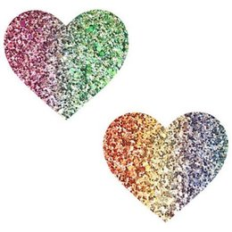 Neva Nude Nipztix Heart Glitter Multicolor Heart Pasties