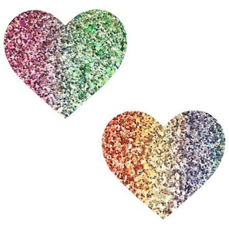 Nipztix Heart Glitter Multicolor Heart Pasties