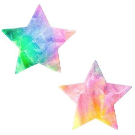 Nipztix Rainbow Sherbet Tie Die Star Pasties