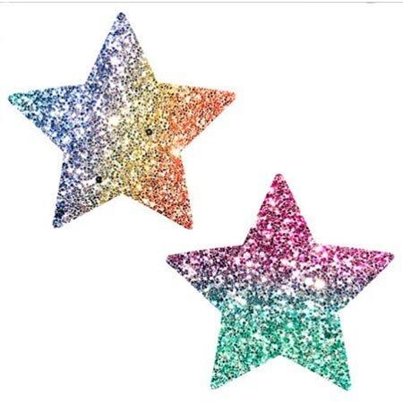 Neva Nude Nipztix Starry Nights Glitter Multicolor Stars Pasties