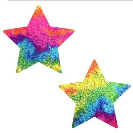 Nipztix Starry Nights Plur Fur Velvet Star Pasties
