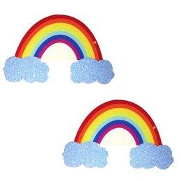 Neva Nude Nipztix Rainbow Glitter Cloud Pasties