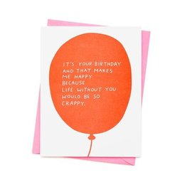 Ashkahn Birthday Balloon Greeting Card