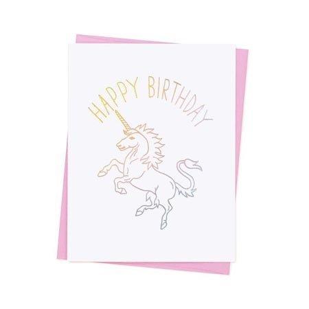 Ashkahn Birthday Unicorn Greeting Card