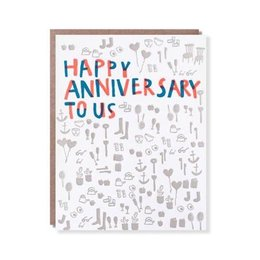 Egg Press Happy Anniversary To Us Greeting Card