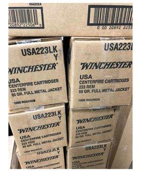 Winchester 223 rem 55 gr fmj 1000ct.