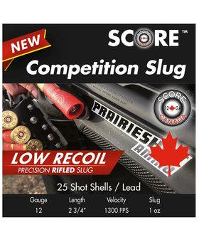 Score 12 Gauge Low Recoil Competition Slug 250 rd case