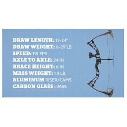 Diamond Archery Atomic RH 29# Electric Blue