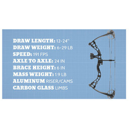 Diamond Archery Atomic LH 29# Electric Blue