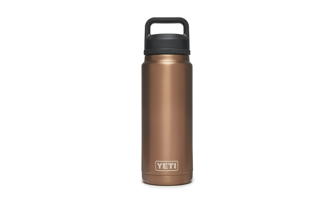 Yeti 26 oz Rambler Bottle chug it cap Copper