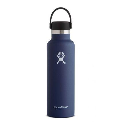 HydroFlask 21oz Standard Mouth Flex Cap Cobalt