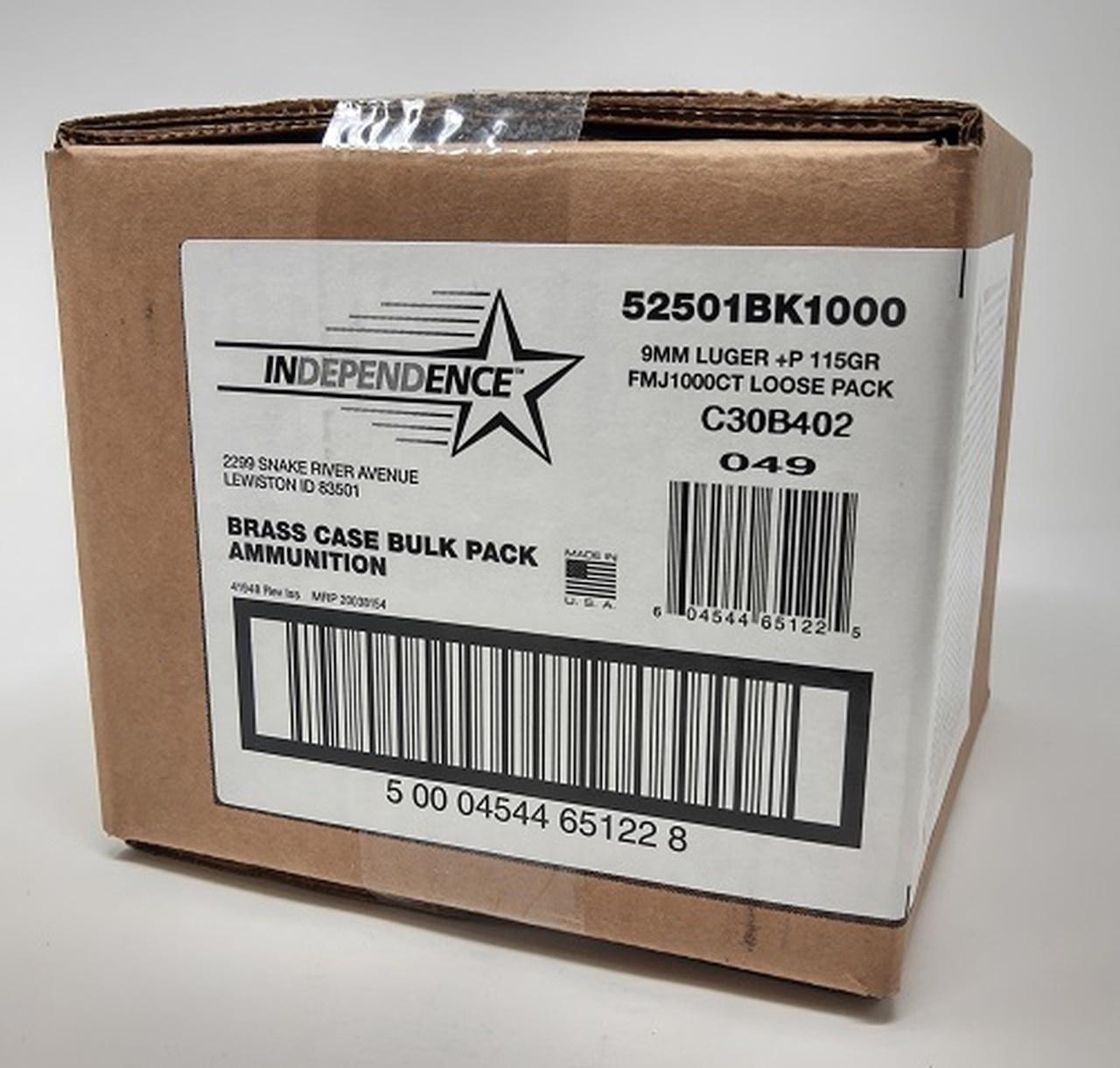 CCI 9mm Indep 1000 rd bulk