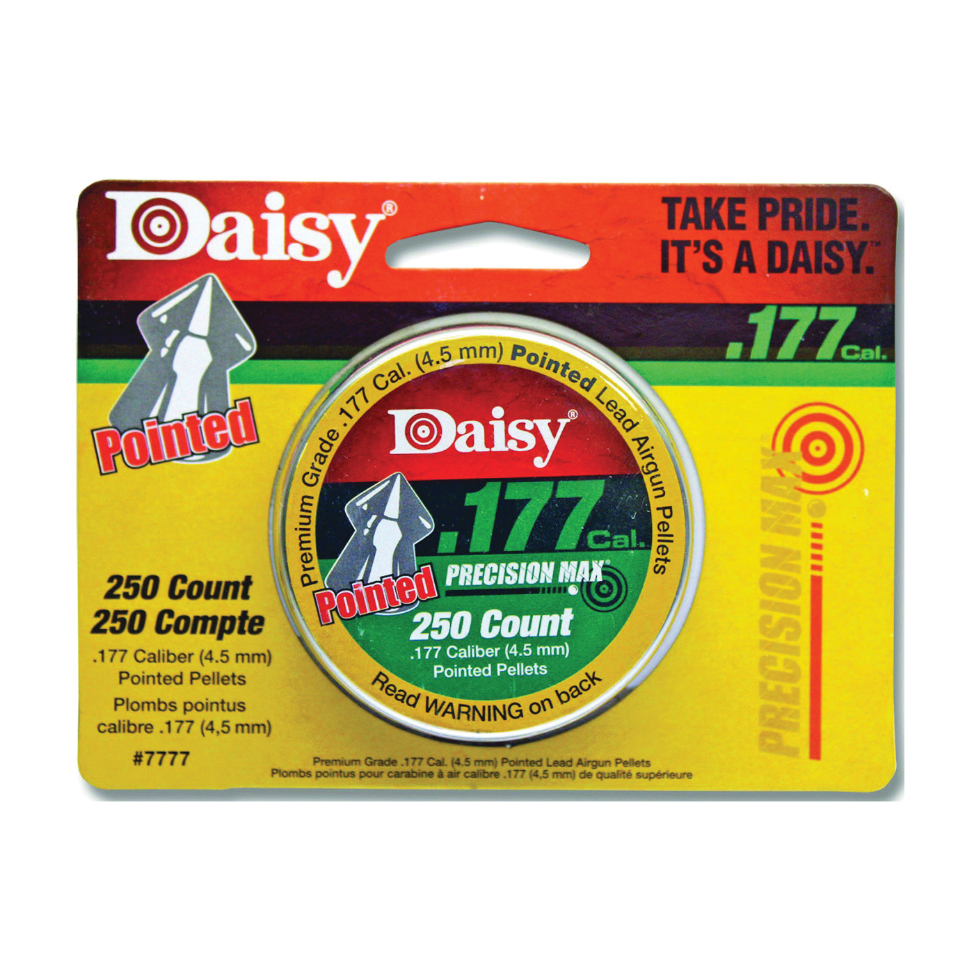Daisy 177 cal pointed pellet 250 ct.