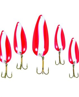 eagleclaw Dooms Day spoons red 5 pk