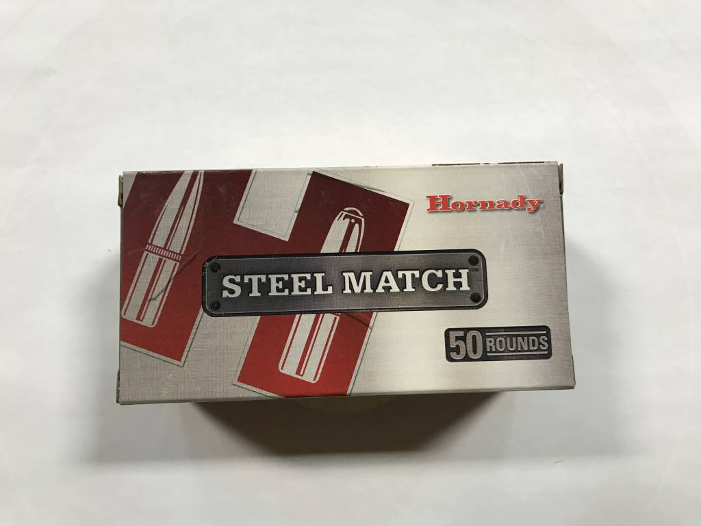 Hornady 223 rem 55gr hp steel match