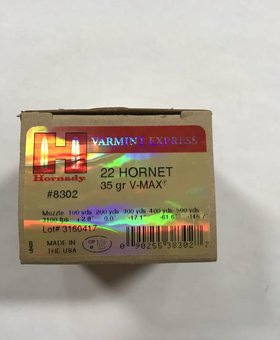 Hornady 22 hornet 35 gr v-max varmint express