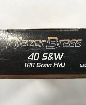 CCI 40 S&W 180 gr FMJ blazer brass