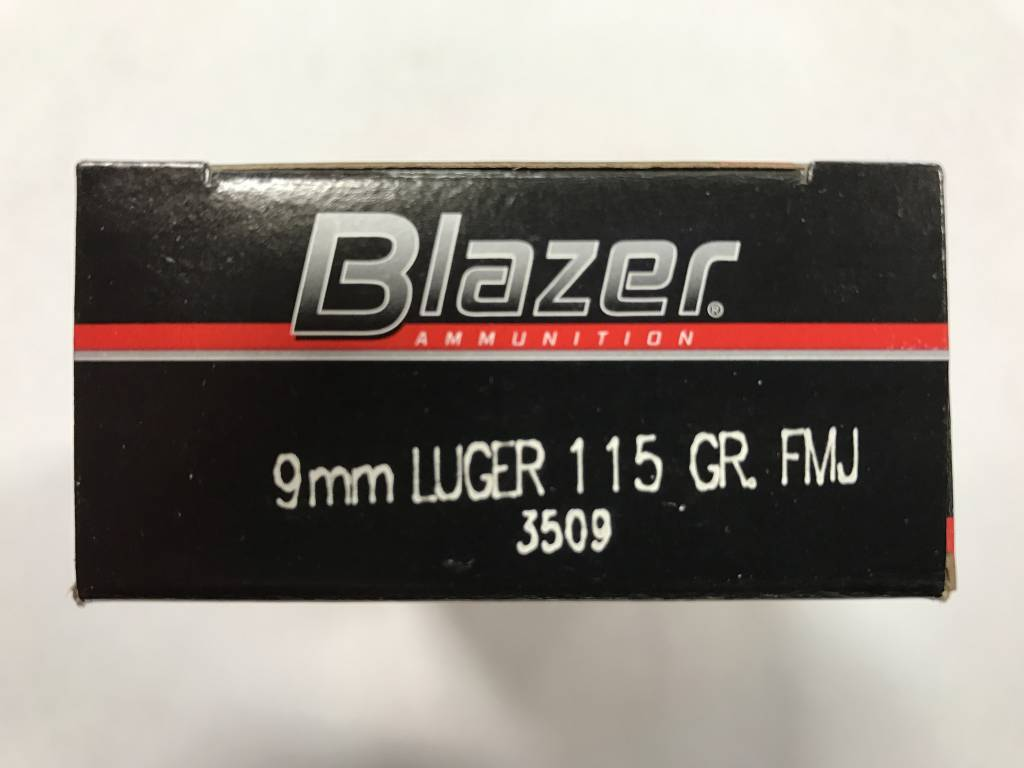Federal 9mm luger 115 gr fmj blazer
