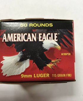 Federal 9mm luger 115 gr fmj A.E.