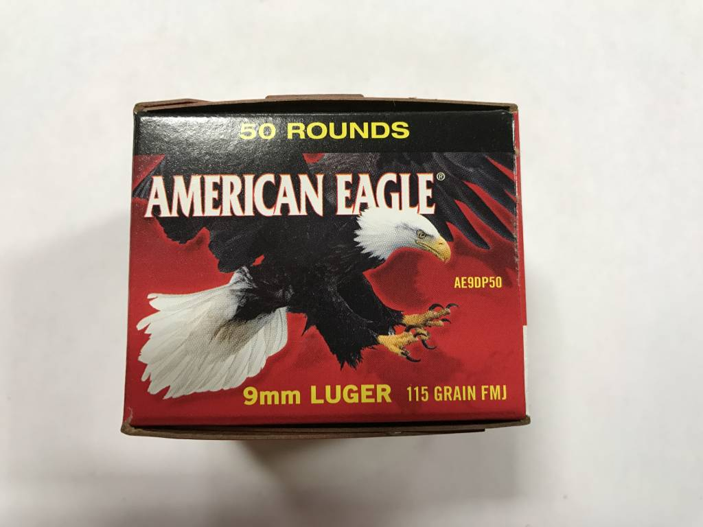 Federal 9mm luger 115 gr fmj A.E.