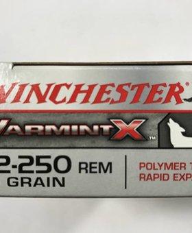 Winchester 22-250 rem 55 gr varmint x poly tip