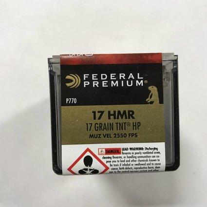 Federal 17 hmr 17 gr tnt hp
