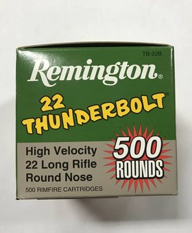 Remington 22 l.r. thunderbolt 500 ct