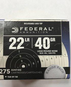 Federal 22 l.r. 40 gr rn. 275 ct