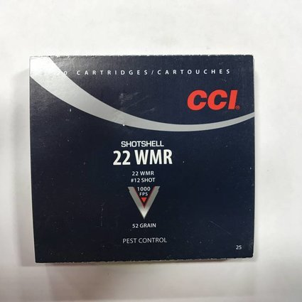 22 wmr #12 shot