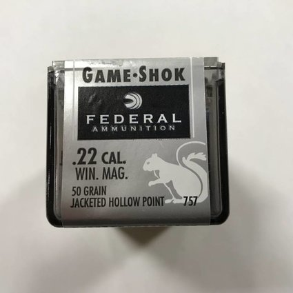 Federal 22 wmr 50 gr jkt hp