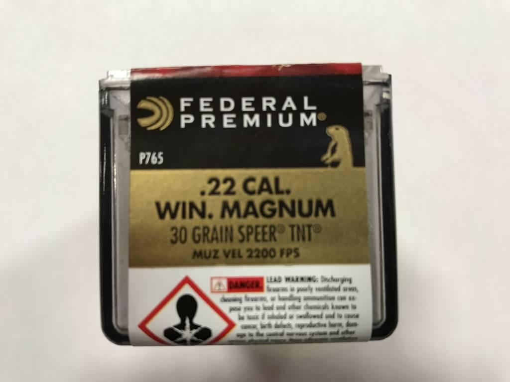 Federal 22 wmr 30 gr speer tnt