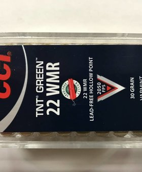 CCI 22 wmr 30 gr TNT green hp