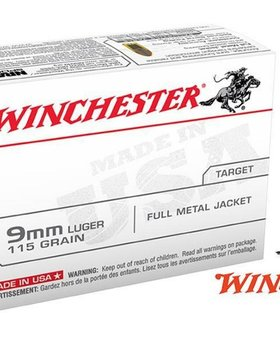 Winchester 9mm luger 115 gr fmj 100 count