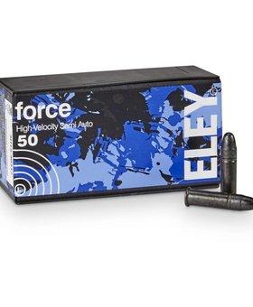 Eley 22 l.r. Force 42 gr HV  blue/blk box