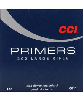 CCI 0011 200 STD LARGE RIFLE PRIMER 100CT