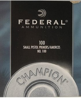 Federal Small pistol Primers #100 100ct.