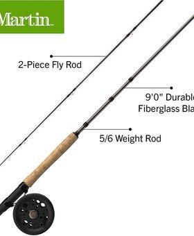 Martin Fly Fishing Caddis Creek Fly Combo 9' 7/8 WT 2 P