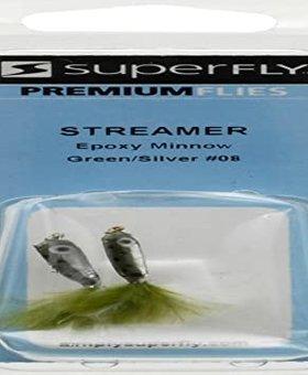 Superfly Premium Sreamer Fly Gr/Sil Epoxy Minnow #8