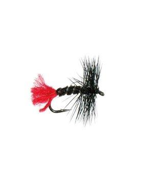 etic Unsnelled Dry Flies Blac Zulu #12