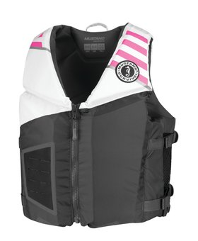 Mustang Survival Rev Young Adult Foam Vest Gray/White/Pink