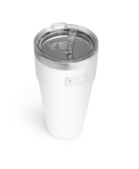 Yeti 26oz Rambler Straw Cup White