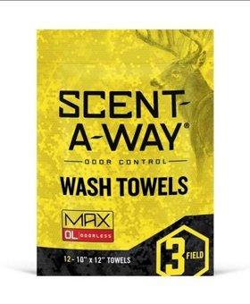 HUNTERS SPECIALTIES INC SCENT-A-WAY WASH TOWELS