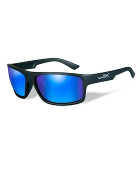 Wiley X PEAK POL BLUE MIRROR LENS/MATT EBLK FRAME