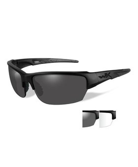 Wiley X SAINT SMOKE/CLEAR LENS MATTE BLK FRAME