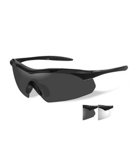 Wiley X VAPOR GREY /CLEAR LENS MATTE BLK FRAME