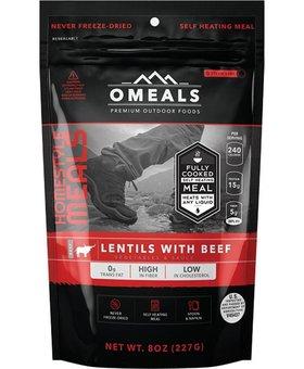 Omeals Lentils w/Vegtables, Beef