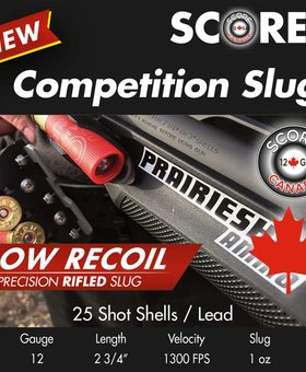 Score 12 Ga 2/4 Low recoil 1 OZ slug  250 ct.
